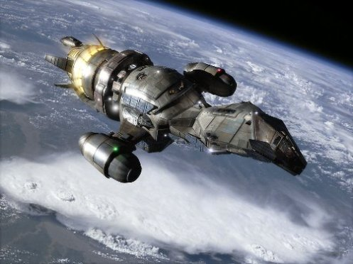 The Firefly class space ship Serenity