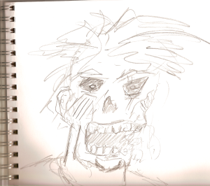quick, pencil sketch but captures the good ol' zombie essence