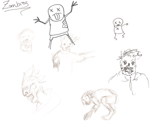 More doodled zombies