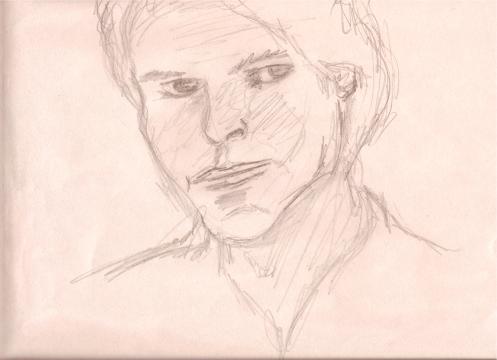 A rough face sketch