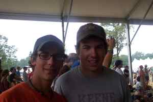 Me and Ian at Bonnaroo in 2006 at the Grace Potter & The Nocturnals show