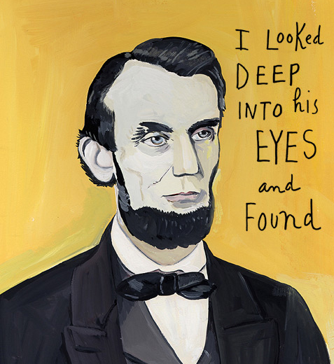 "One of the many wonderful illustration from Ms. Kalman's ""In Love with Lincoln"""