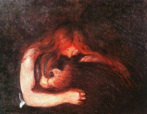 """Edvard Munch's """"Vampire"""" beautifully disturbing and horrifying"""