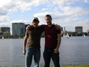 Me and Nate in front of the Charles River . . . so good to see my former roommate who I lived with for three years in college