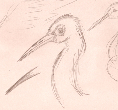 Just some heron sketching.  I am really fascinated by herons and love seeing them.  I particularly enjoy trying to get their neck shapes right