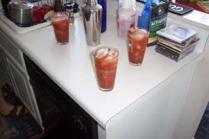 Delightful Bloody Mary nurishment makes for good beer brewing