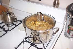 Dan made boiled peanuts.  I think they are still at Brian's house.  I think Dan wants them.