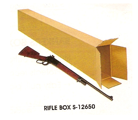 This box is for guns . . . long guns . . . called rifles . . . that is a rifle next to the long box . . . the rifle might be used to kill the moose which was the model for the above bronzed moose statue . . . so it goes