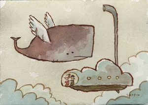 Flying whale cloud vehicle