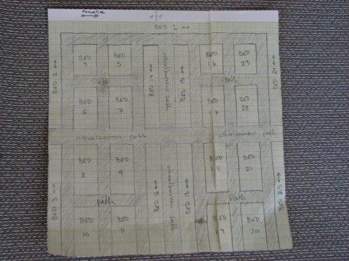 Initial Garden layout plan