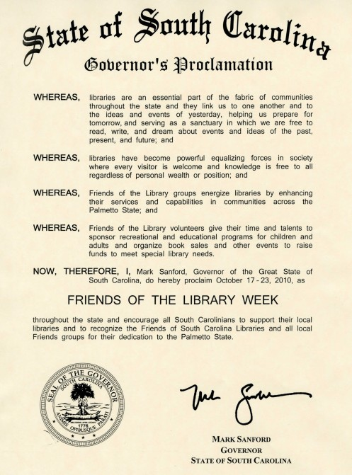 Friends of Libraries Proclamation 2010
