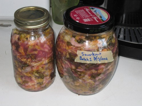 Finished sauerkraut