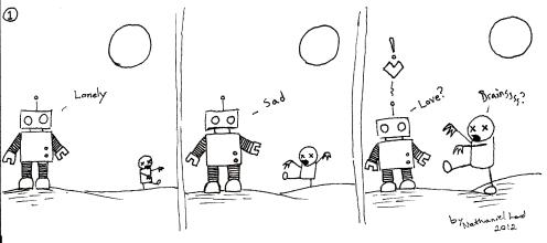 Robot loves Zombie