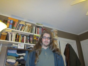 Here is what the long hair looked like down.