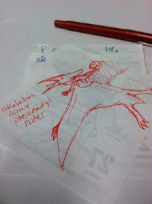 Skeleton Pterodactyl Rider