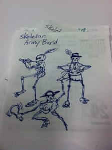 Skeleton Army Marching Band