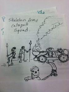Skeleton army catapult squad